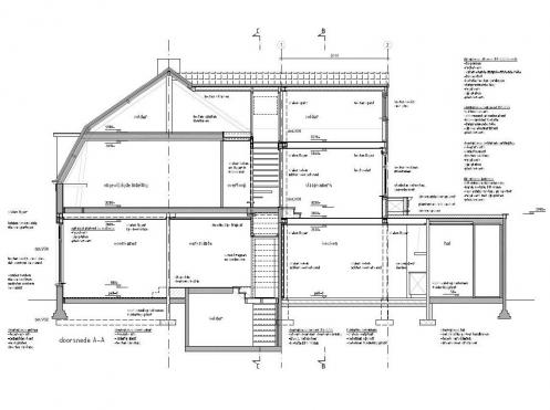 Projecten gerealiseerd van ginneke architectuur for Trap doorsnede